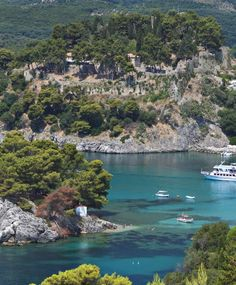 Parga's lacy coastline, Ionian Sea-Epirus, Greece