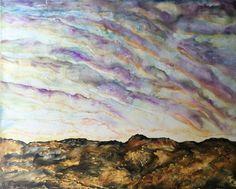 Purple Skies by Kyle Evans Encaustic on Wood Panel Kyle Evans, Purple Sky, Wood Paneling, Contemporary Artists, Art Gallery, Artwork, Wooden Panelling, Art Museum, Work Of Art