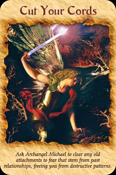 Ask Archangel Michael to clear any old attachments to fear that stem form past relationships, freeing you from destructive patterns. Doreen Virtue, St. Michael, Saint Michael, Archangel Prayers, Angel Guidance, I Believe In Angels, Angels Among Us, Angel Cards, Past Relationships