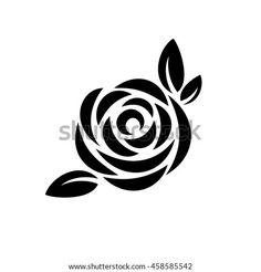 Silhouette Logo, Flower Silhouette, Black Silhouette, Silhouette Design, Stencil Patterns, Stencil Designs, Applique Designs, Rose Stencil, Stencil Art