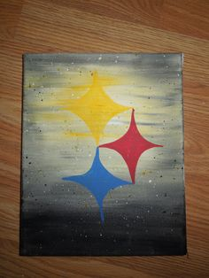 Steelers 8x10 canvas Painting by 50ShadesOfHomemade on Etsy, $20.00