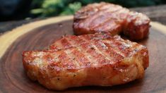 In today's recipe we are making Grilled Ranch Pork Chops on the Pit Boss Pellet Grill with Bourbon-Honey Glaze. This is a really easy Ranch Pork Chop recipe and the versatile bourbon-honey glaze can be used on pork chops, pork loin and c. Grilled Chicken Recipes, Grilled Pork, Pork Chop Recipes, Meat Recipes, Healthy Recipes, Cooking Recipes, Ranch Pork Chops, Pork Loin Chops, Pellet Grill Recipes