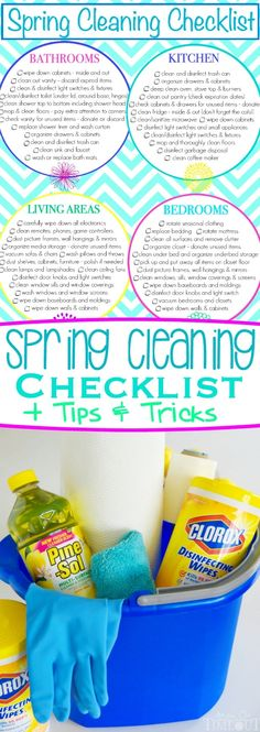 Get a jump start on spring cleaning this year with this printable Spring Cleaning Checklist! Plus I've got included my favorite tips and tricks that will have your home sparkling in no time! // Mom On Timeout #ad