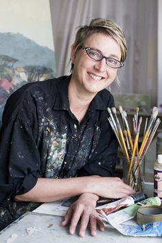 Jenny Parsons is an urban landscape painter based in Cape Town. Famous Artists, Great Artists, Workspaces, Inspiring Art, Urban Landscape, Cape Town, Just Do It, Artist At Work, Burgers