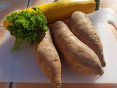 Édesburgonya-cukkini tócsni recept - GLUTENMENTES - Testünk-Egészségünk-Diéta Sweet Potato, Food And Drink, Potatoes, Banana, Fruit, Vegetables, Drinks, Potato, The Fruit