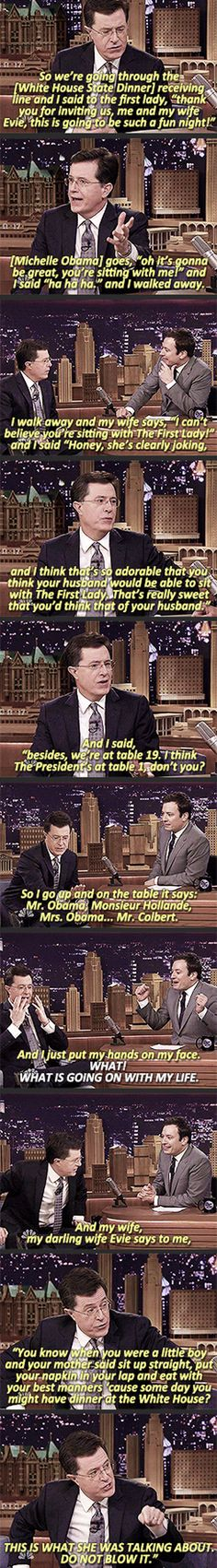 Stephen Colbert And The First Lady // funny pictures - funny photos - funny images - funny pics - funny quotes - #lol #humor #funnypictures