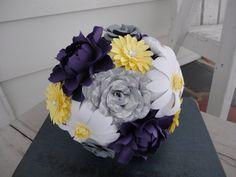 Purple Mixed Paper Flower  Paper Peony Rose by PoshStudios on Etsy, $45.00