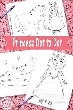 PRINCESS DOT TO DOT {FREE KIDS PRINTABLE} - Kids Activities
