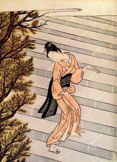 (Japan) by Suzuki Harunobu (1725- 1770). woodblock print.