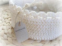 Crocheted basket, no instructions, but probably pretty easy to figure out.