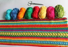 Hier kommt der 3. Teil des Regenbogen Babydecke Crochet Along: Viel Erfolg bei den nächsten 10 Reihen. Wenn du deine Decke bei Instagram zeigst, dann tagge