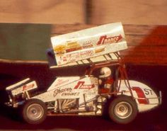 This photo is from Jac Haudenschild is on it at Calistoga in the Darryl Saucier's Nance (Photo by Alan Messick) Sprint Car Racing, Dirt Track Racing, Auto Racing, Old Race Cars, Vintage Race Car, Wild Child, My Dad, Children, Fun