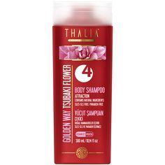 Organik TSUBAKI yağı ile cildinizi yumuşatır ve parlaklık verir. Amber ve meyvemsi kokusu ile gün boyu kendinize güven duymanızı sağlar. Çekici ve temiz bir duş için SLES/SLS ve paraben içermeyen özel formüllü vücut şampuanımızı her gün güvenle kullanabilirsiniz. İçeriğindeki provitamin, bitki özleri ve hidrolize protein ile gün boyu ferahlık hissedeceksiniz. #vücutşampuan #vücutbakım #vücut #thalia #parabeniçermez #doğal #banyo #duş #bodyshampoo #body #şampuan #thaliaşampuan
