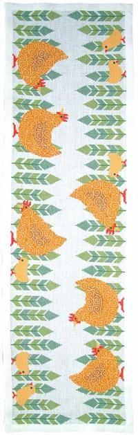 Brune høns og kyllinger