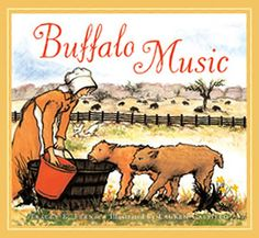 """Buffalo Music, by Tracey E. Fern; illustrated by Lauren Castillo (2008). For ages 4-8. """"Inspired by the work of Mary Ann Goodnight, a pioneer credited with forming one of the first captive buffalo herds in the 1800s, this is the beautifully told and illustrated tale of one woman's quest to save what otherwise would have been lost forever."""" (Website) 2008 winner of June Franklin Naylor Award for Best Book for Children on Texas History."""