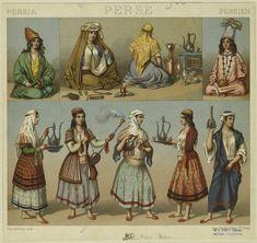 [Persian women preparing and serving beverages.] (1876-1888)