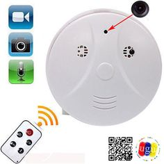 Buy Mini HD DVR SPY Hidden Camera Smoke Detector Motion Detection Video Recorder Cam, Smoke detector appearance, not a real smoke detector. at Discounted Prices ✓ FREE DELIVERY possible on eligible purchases. Pinhole Camera, Dvr Camera, Home Camera, Mini Camera, Security Surveillance, Security Camera, Spy Tools, Hidden Spy Camera, Digital Video Recorder