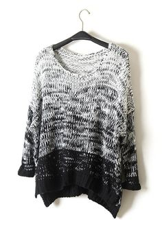 Black, White, and Gray Sweater