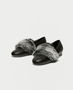 ZARA - WOMAN - SLIPPERS WITH FAUX FUR DETAIL