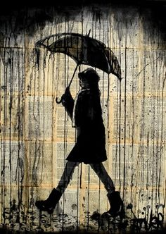 """Can never pass up an image of a cutely dressed girl under an umbrella! (It all started when I first laid eyes on the """"Morton Salt"""" girl...:-p)"""