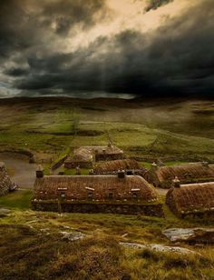 Blackboard village. Isle of Lewis, Outer Hebrides, Scotland