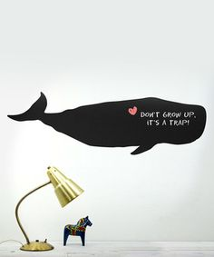 Whale Chalkboard Decal