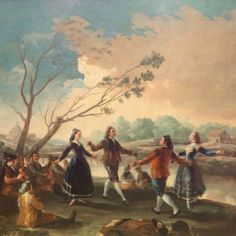 Giclee Print: Dance on the Banks of the Manzanares, by Francisco de Goya : Francisco Goya, Spanish Painters, Spanish Artists, Albrecht Durer, Home Dance, Art Periods, Art Database, Art Moderne, Romanticism