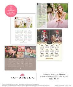 2015 - 2016 Photoshop Calendar Templates for Photographers #2015 ...