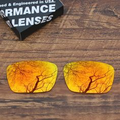 Sale Polarized Sunglass Lenses Replacement for-Oakley Fuel Cell - Orange Red