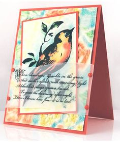 Stampendous » Multi-Colored Songbird Card by Pam Hornschu