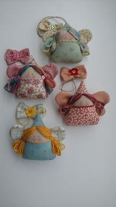 Sewn Christmas Ornaments, Christmas Crafts, Tiny Dolls, Soft Dolls, Doll Crafts, Baby Crafts, Crafts To Make, Arts And Crafts, Diy Xmas Gifts