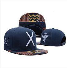 2014 nova 1 pcs deep blue moda chapéus snapback beisebol e bonés para homens esfriar algodão esporte ajustável cap pop hip X carta barato(China (Mainland))
