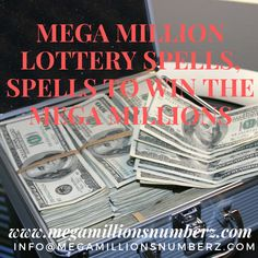 The greater part of us dream of winning the lottery and getting a ton of money fast and easy. A few of us are sufficiently fortunate to win some free money all over, yet the vast majority of us don't win anything, especially no enormous jackpots. Powerful Money Spells, Money Spells That Work, Spells That Really Work, Lotto Winning Numbers, Lottery Numbers, Winning The Lottery, Win Money, Money Fast, Free Money