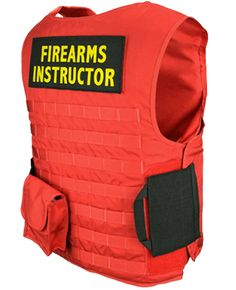 U.S. Armor Firearms Instructor Vest External outer Carrier Red Series 200 or Series 500