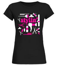 Hair Stylist Hairdresser Profession T-Shirt - Pink curling t shirt,usa curling shirt,curling sport t shirt,curling shirt,