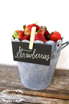 Rustic Wedding Favors Serving Bucket.
