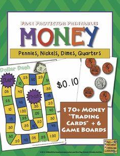 Money Math: Coins and Dollar Sense {Page Protector Printables}