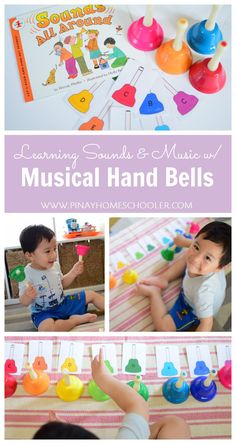 Montessori-Inspired sounds and music: the musical hand bells Music Activities For Kids, Music For Toddlers, Movement Activities, Montessori Activities, Toddler Music, Preschool Music Activities, Kids Piano, Album Jeunesse, Music Lesson Plans