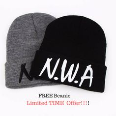 FREE n.w.a winter beanie    Get yours NOW!!! @ https://fmtfstore.com/collections/hats/products/nwa-winter-beanie