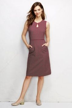 Women's Ponté Keyhole Sheath Dress - Pattern from Lands' End - Love these Sheath dresses from Land's End!