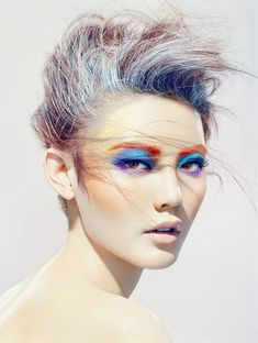 Inject some color into your life with rainbow bright make up because why not? #crcmakeup