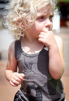 Super Elephant King Tank Top for boys and girls by Wee Monster.  www.weemonster.net