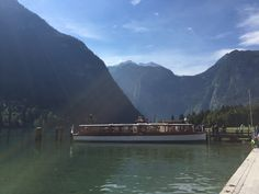 Electric boat on the Konigssee