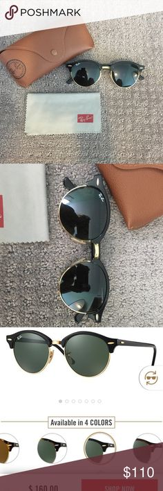 e1cd07fffdf Clubround classic raybans Super cute ray ban glasses. The clubmaster round  style. In black