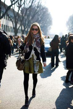 Flirty skirt in winter!