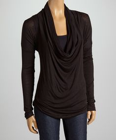 This Black Cowl Neck Top by sun n moon is perfect! #zulilyfinds