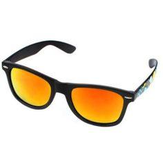 Lady Eyewear Black Single Bridge Tinted Yellow Lens Eyeglass Sunglasses