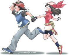 Ash and May Running Image Pokemon Show, Pokemon Pins, Pokemon Comics, Cute Pokemon, Dessin My Little Pony, Ash And May, Pokemon Ash Ketchum, Powerful Pokemon, Right In The Childhood
