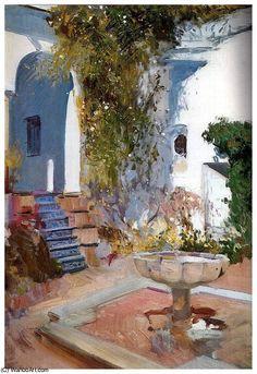 Rincon del grutesco del Alcazar de Sevilla(1910), 1910 by Joaquin Sorolla Y Bastida (1863-1923, Spain)