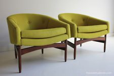 Mid Century Lawrence Peabody Club Chair for Nemschoff Chair Company
